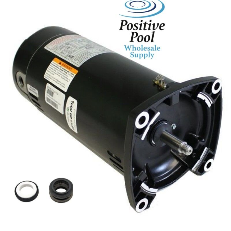 Pool motor usq1152 ao smith century 1 1 2 hp square flange for Ao smith pump motor