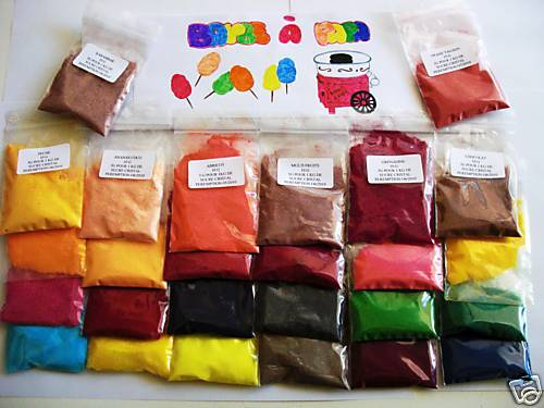 10 sachets de 10 g colorant machine barbe papa yaourti re ebay. Black Bedroom Furniture Sets. Home Design Ideas