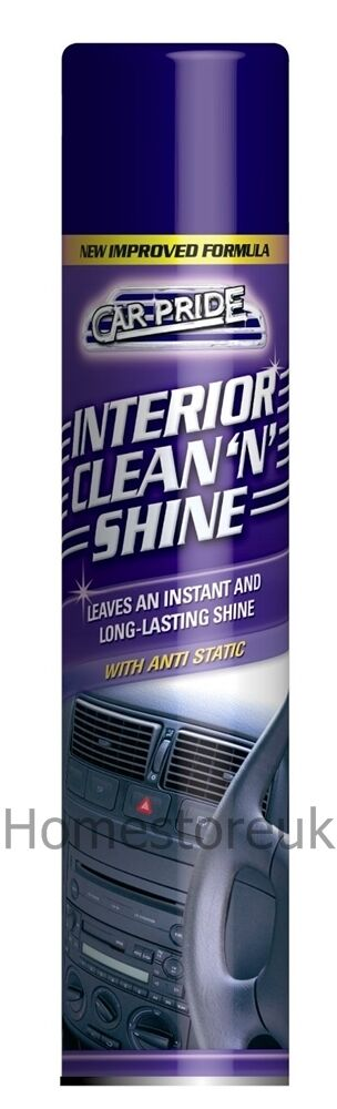 car pride interior long lasting clean 39 n 39 shine 300ml spray with anti static 431 ebay. Black Bedroom Furniture Sets. Home Design Ideas