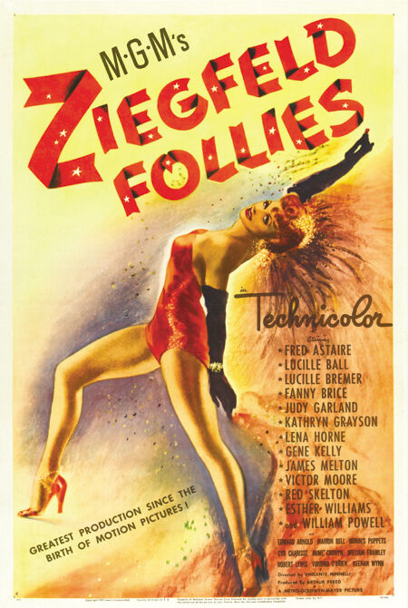 Ziegfeld follies Fred Astaire vintage movie poster | eBay