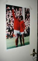 Denis Law and George Best Manchester United Poster