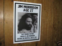 Jim Morrison The Doors Last Known Picture Repro POSTER