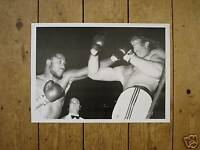 Joe Frazier v Bugner Fight Action Poster