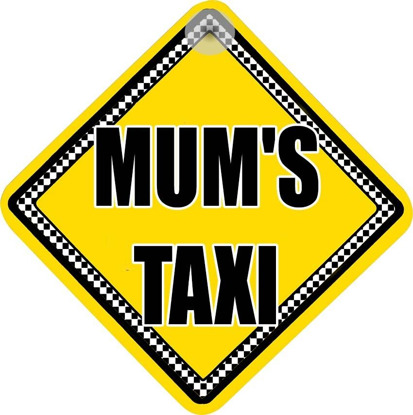 mum 39 s taxi funny car sign for your rear window ebay. Black Bedroom Furniture Sets. Home Design Ideas