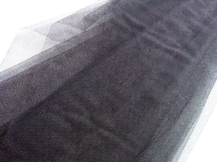 Q55 black soft mesh net fabric wedding decor by yard ebay for Decor 55 fabric