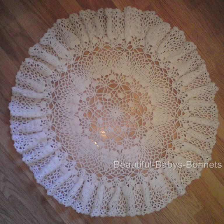 Crochet Patterns Christening Shawls : CROCHET PATTERN for Babys Christening Shawl Circular Lace ...