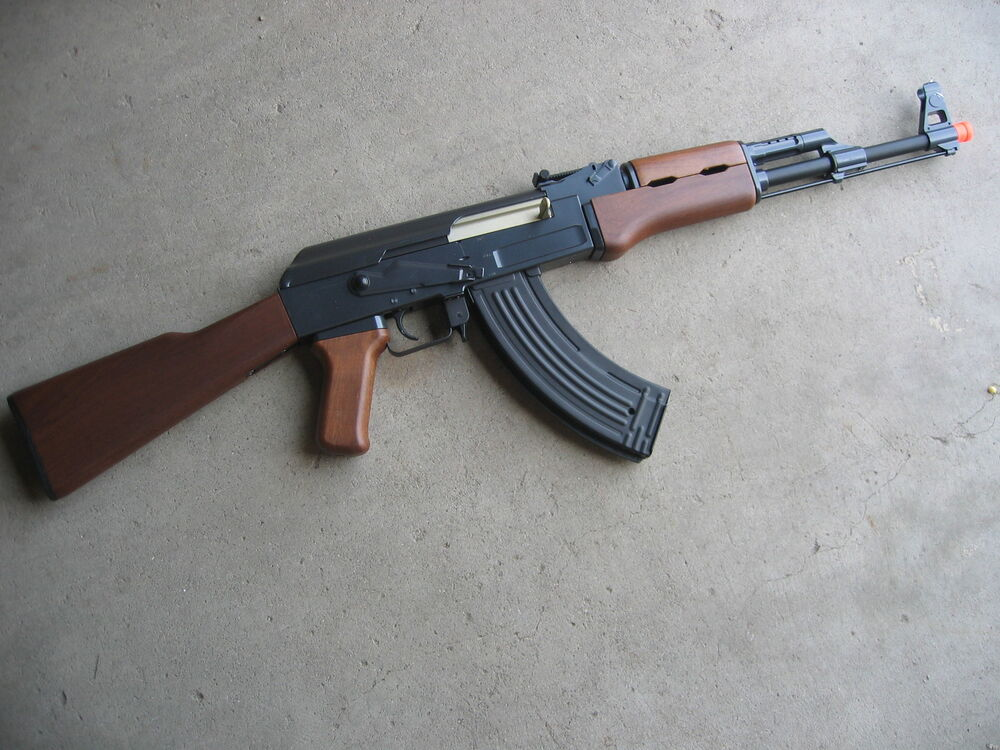 Details about   Double Eagle Metal AK-47 AEG Airsoft Gun 400 FPS Wood