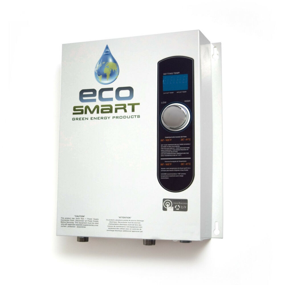 electric tankless instant on demand hot water heater eco18 eco 18 18kw ebay. Black Bedroom Furniture Sets. Home Design Ideas