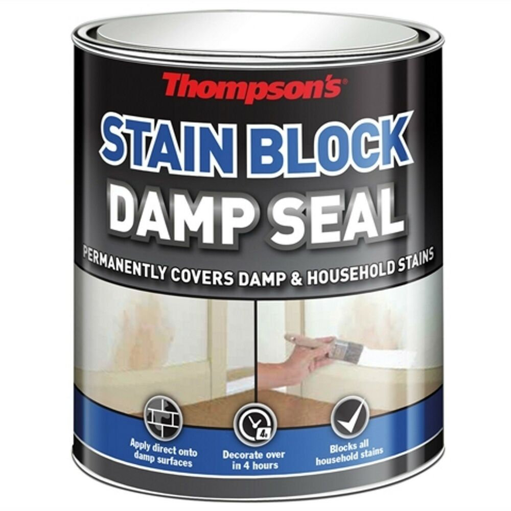 stain block paint for covering damp mould patch 750ml ebay. Black Bedroom Furniture Sets. Home Design Ideas