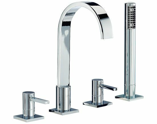 Mayfair Wave RDL049 4 Hole Bath Shower Mixer BSM Tap