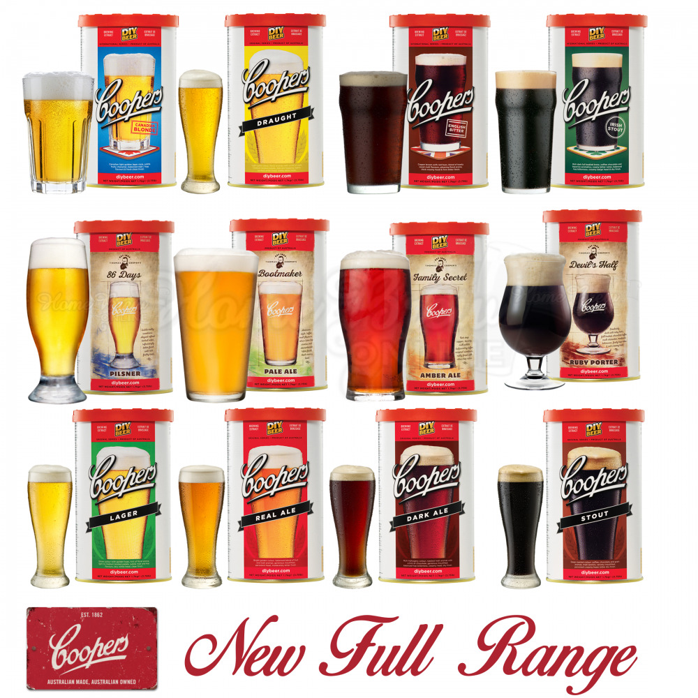 Coopers Beer Lager Making Kits Make Home Brew Refill ...