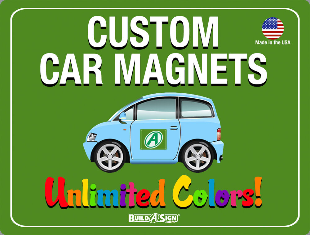 X Custom Car Magnets Magnetic Auto Truck Signs EBay - Custom car magnets