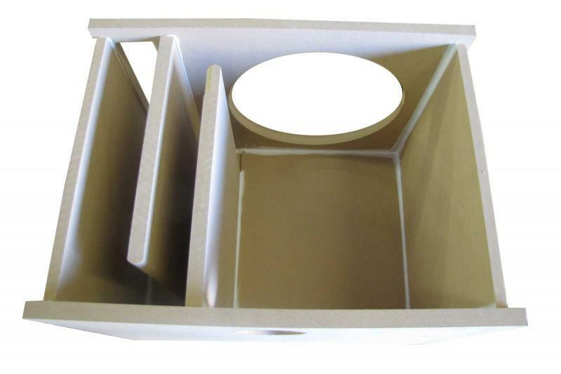 12 single subwoofer box labyrinth vented 3 4 mdf ebay for L ported box dimensions