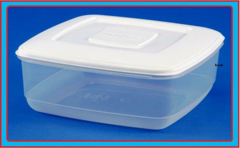 7l Square Plastic Food Storage Cake Box Container Lid
