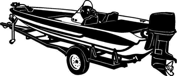 Bass Fishing Boat Window Vinyl Decal Sticker Car Truck Sign - Decals for boat trailers