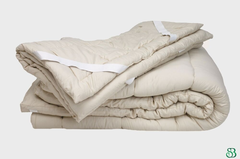 Organic Wool Queen Mattress Pad Topper Down Alternative Ebay