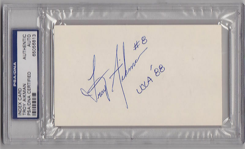 foto de Troy Aikman COLLEGE signed Index Card PSA/DNA HOF UCLA