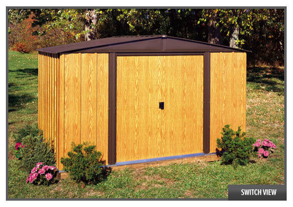 Arrow sheds 10x8 woodlake storage shed w floor kit wl108 for 10 x 8 metal shed with floor