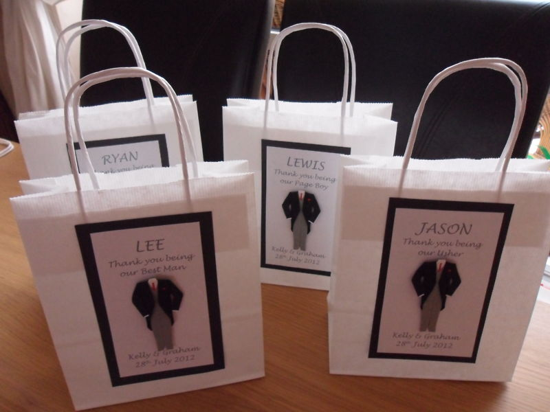 Wedding Gift Ideas For Bestman And Ushers: 5 X PERSONALISED BEST MAN USHER GIFT BAGS PARENTS WEDDING