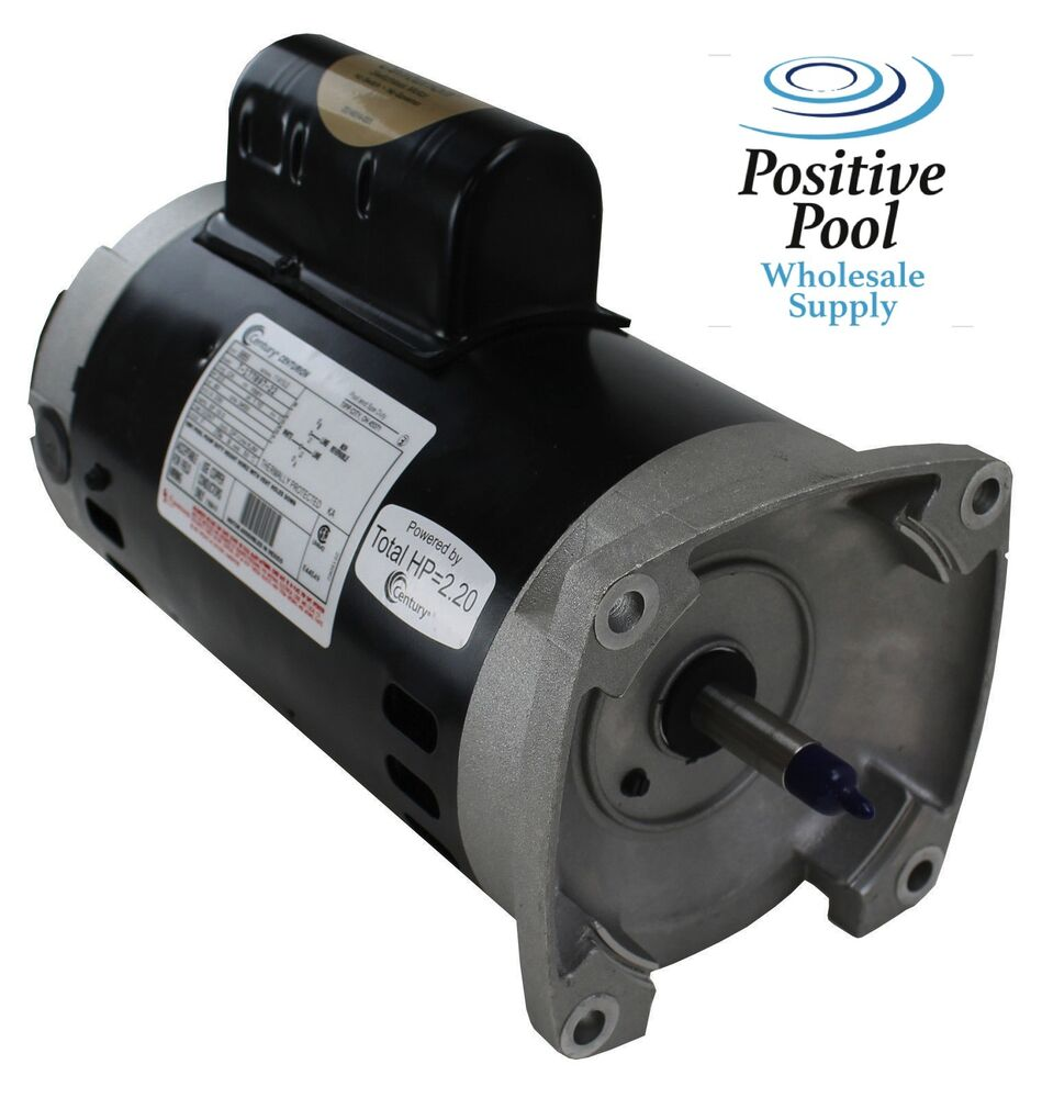 Pentair whisperflo 2 hp pool pump motor century b855 2 0 for Ao smith pump motor