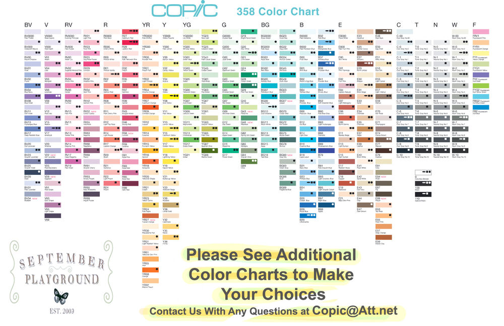 Copic Sketch Markers Your Choice Of One Color 358 Colors