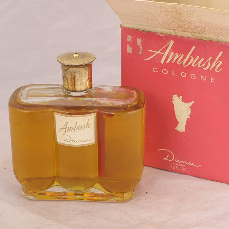 vintage dana ambush 16 oz jumbo eau de cologne rare ebay. Black Bedroom Furniture Sets. Home Design Ideas
