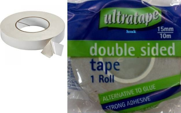 15mmx10m ultra double sided small tape adhesive ultratape for Double sided craft tape