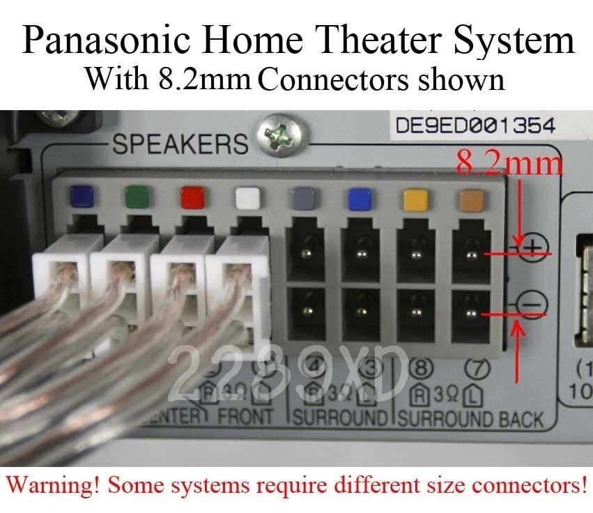 6 speaker wires cables 80ft 8 2mm made for select panasonic home theater ebay