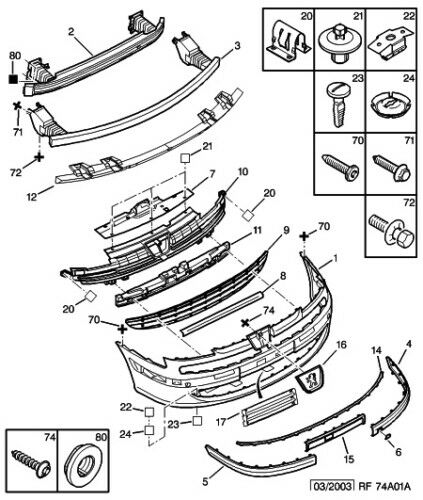 service manual  diagram of removing a grill from a 2010
