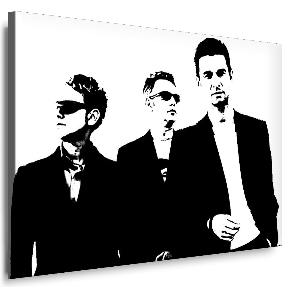 bild auf leinwand depeche mode bilder n534 kunstdrucke wandbilder kein poster ebay. Black Bedroom Furniture Sets. Home Design Ideas