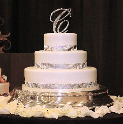 wedding cake ribbon with rhinestones sample rhinestone wedding cake ribbon banding ebay 23689