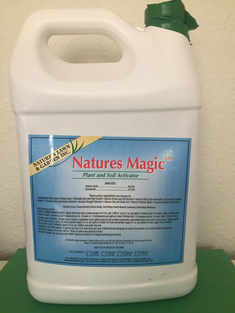 Nature 39 s magic plant soil activator organic gallon ebay for Organic soil solutions