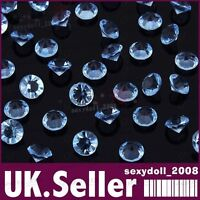 2000 Turquoise Blue Wedding Decoration Scatter Table Diamonds Acrylic Crystals