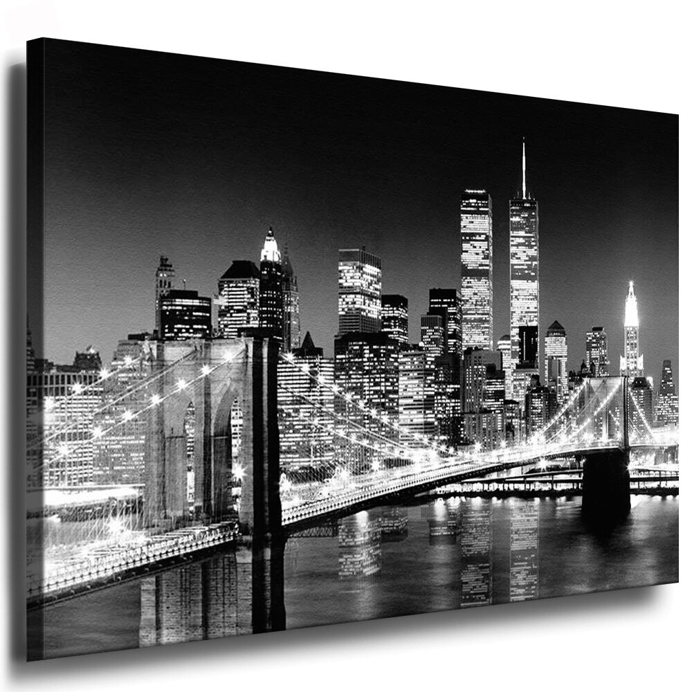 new york kunstdruck keilrahmenbild poster auf leinwand. Black Bedroom Furniture Sets. Home Design Ideas
