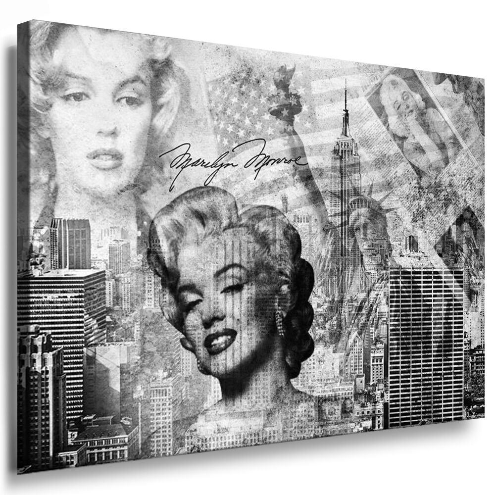 bild leinwand marilyn monroe keilrahmen bilder wandbilder kunstdrucke k poster ebay. Black Bedroom Furniture Sets. Home Design Ideas