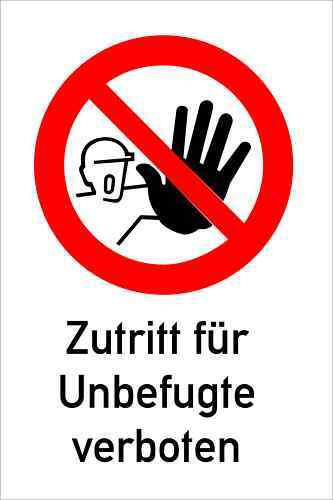 durchgang zutritt verboten schild 20x30 cm w kunst ebay. Black Bedroom Furniture Sets. Home Design Ideas