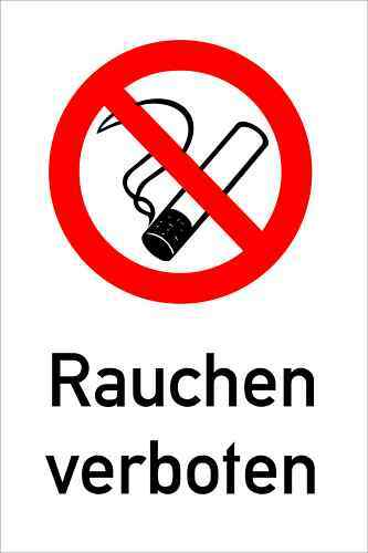 rauchen verboten schild 20x30 cm w kunst ebay. Black Bedroom Furniture Sets. Home Design Ideas