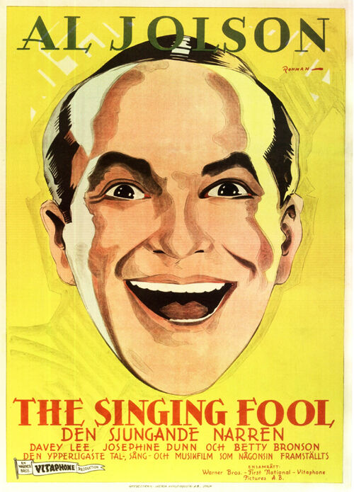 The singing fool Al Jolson 1928 movie poster print #1 | eBay