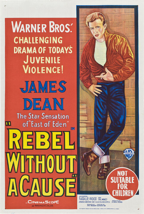 rebel without a cause james dean movie poster 5 ebay. Black Bedroom Furniture Sets. Home Design Ideas
