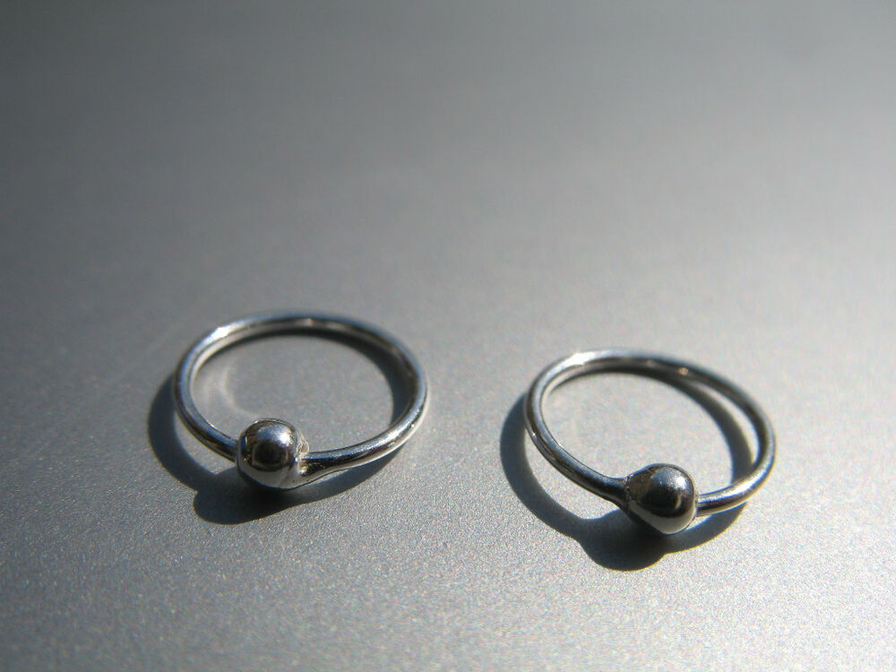 2 x 925 sterling silver small nose rings 8mm bar ebay