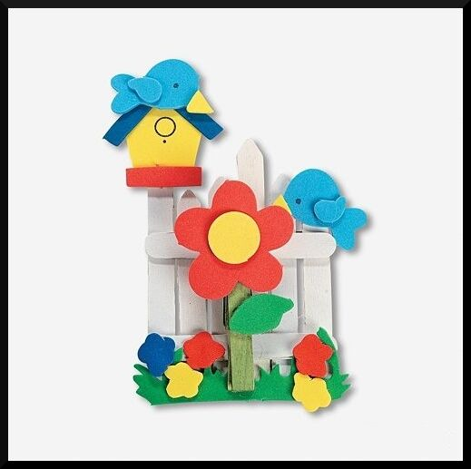 birdhouse wood memo craft kit for kids magnetic abcraft ebay. Black Bedroom Furniture Sets. Home Design Ideas