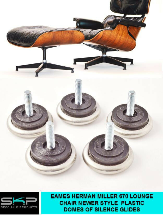 domes of silence glides for eames herman miller 670 lounge