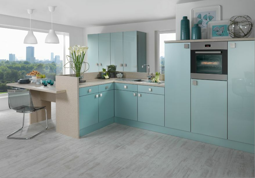 BLUE ASTRAL HIGH GLOSS SENOPLAS ACRYLIC KITCHEN CABINET DOORS  eBay
