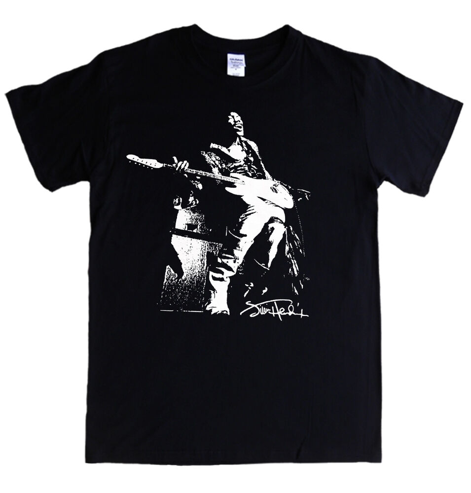 jimi hendrix t shirt s 5xl rock 60 39 s guitar experience. Black Bedroom Furniture Sets. Home Design Ideas