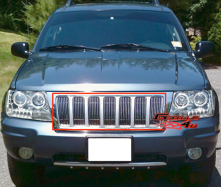 For 99 04 Jeep Grand Cherokee Vertical Billet Grille Insert Ebay