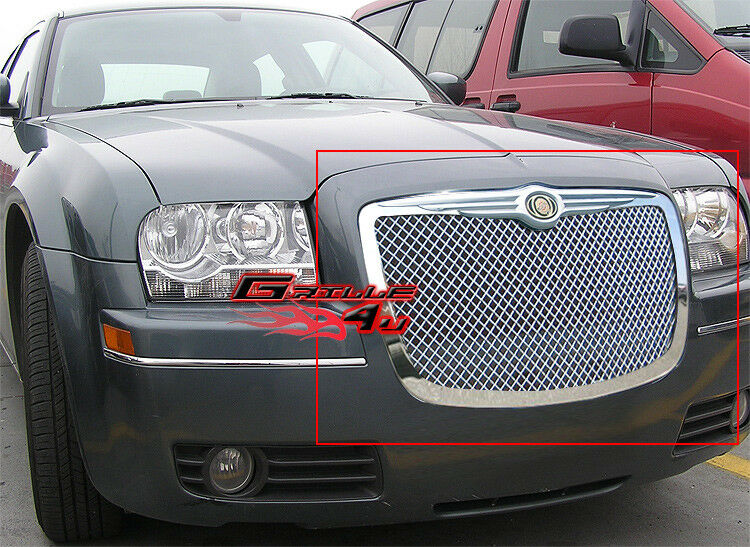 for 05 10 chrysler 300 300c stainless steel mesh grille ebay. Black Bedroom Furniture Sets. Home Design Ideas