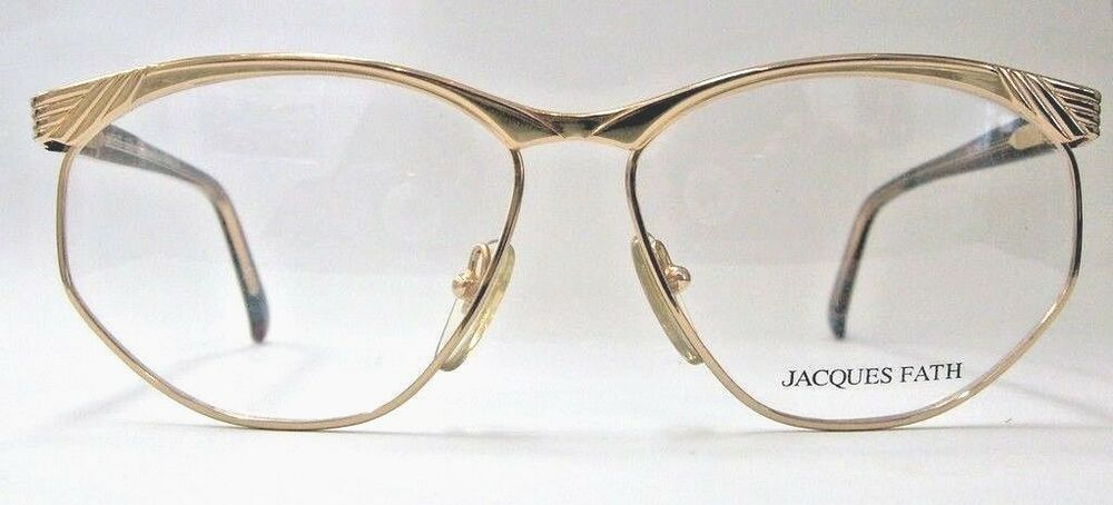 Gold Frame Vintage Glasses : AUTHENTIC VINTAGE JACQUES FATH GOLD FRAME EYEGLASSES eBay