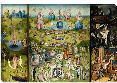 The Garden Of Earthly Delights Bosch Canvas Art Print Ebay