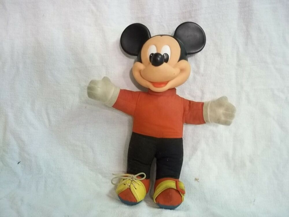 Mickey Mouse Toys : Vintage disney mickey mouse plush learn to toy ebay