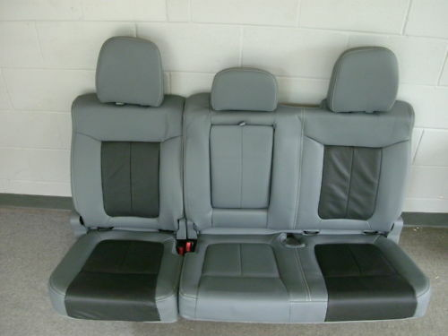 Ford F250 Parts >> Ford F-150 Lariat Limited gray leather rear seat | eBay